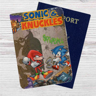 Sonic & Knuckles Custom Leather Passport Wallet Case Cover