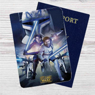 Star Wars The Clone Wars Custom Leather Passport Wallet Case Cover