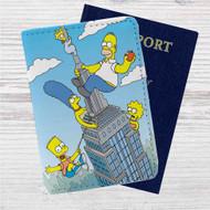 The City of New York vs Homer Simpson Custom Leather Passport Wallet Case Cover