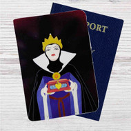 The Evil Queen Disney Snow White Custom Leather Passport Wallet Case Cover