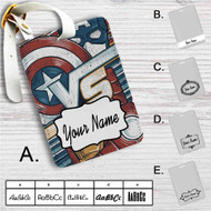Captain America Vs Iron Man Custom Leather Luggage Tag