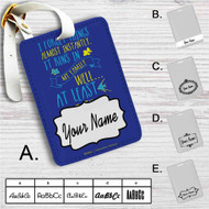 Disney Dory Quotes Custom Leather Luggage Tag