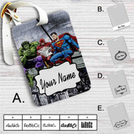 Hulk The Flash Superman Venom Breakfast Custom Leather Luggage Tag