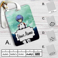 Neon Genesis Evangelion Rei Ayanami Custom Leather Luggage Tag