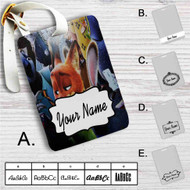 Zootopia With Phone Custom Leather Luggage Tag