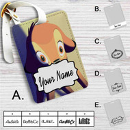 Bambi Disney Custom Leather Luggage Tag