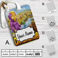 Crashlands Game Custom Leather Luggage Tag