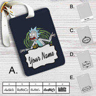 Get Riggity Rick and Morty Custom Leather Luggage Tag