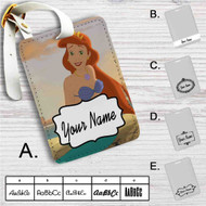 Princess Ariel The Little Mermaid Custom Leather Luggage Tag