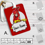 The Flash Comic Custom Leather Luggage Tag