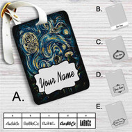 The Legend of Zelda Starry Night Custom Leather Luggage Tag