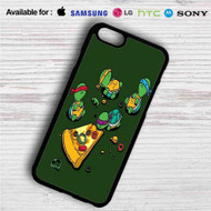 Teenage Mutant Ninja Turtles Pizza Time on your case iphone 4 4s 5 5s 5c 6 6plus 7 Samsung Galaxy s3 s4 s5 s6 s7 HTC Case