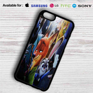 Zootopia With Phone on your case iphone 4 4s 5 5s 5c 6 6plus 7 Samsung Galaxy s3 s4 s5 s6 s7 HTC Case