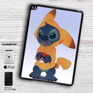 "Disney Stich as Pikachu Pokemon iPad 2 3 4 iPad Mini 1 2 3 4 iPad Air 1 2 | Samsung Galaxy Tab 10.1"" Tab 2 7"" Tab 3 7"" Tab 3 8"" Tab 4 7"" Case"