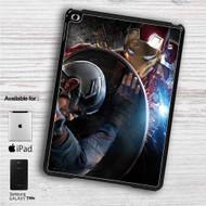 "Iron Man vs Captain Captain America Civil War iPad 2 3 4 iPad Mini 1 2 3 4 iPad Air 1 2 | Samsung Galaxy Tab 10.1"" Tab 2 7"" Tab 3 7"" Tab 3 8"" Tab 4 7"" Case"