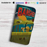 Banshee Custom Leather Wallet iPhone 4/4S 5S/C 6/6S Plus 7| Samsung Galaxy S4 S5 S6 S7 Note 3 4 5| LG G2 G3 G4| Motorola Moto X X2 Nexus 6| Sony Z3 Z4 Mini| HTC ONE X M7 M8 M9 Case