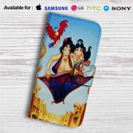 Disney Aladdin and Jasmine WIth Monkey Custom Leather Wallet iPhone 4/4S 5S/C 6/6S Plus 7| Samsung Galaxy S4 S5 S6 S7 Note 3 4 5| LG G2 G3 G4| Motorola Moto X X2 Nexus 6| Sony Z3 Z4 Mini| HTC ONE X M7 M8 M9 Case