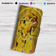 Disney Beauty And The Beast Gustav Klimt Custom Leather Wallet iPhone 4/4S 5S/C 6/6S Plus 7| Samsung Galaxy S4 S5 S6 S7 Note 3 4 5| LG G2 G3 G4| Motorola Moto X X2 Nexus 6| Sony Z3 Z4 Mini| HTC ONE X M7 M8 M9 Case
