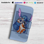 Disney Stitch and Android BB8 Star Wars Custom Leather Wallet iPhone 4/4S 5S/C 6/6S Plus 7  Samsung Galaxy S4 S5 S6 S7 Note 3 4 5  LG G2 G3 G4  Motorola Moto X X2 Nexus 6  Sony Z3 Z4 Mini  HTC ONE X M7 M8 M9 Case