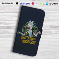 Get Riggity Rick and Morty Custom Leather Wallet iPhone 4/4S 5S/C 6/6S Plus 7| Samsung Galaxy S4 S5 S6 S7 Note 3 4 5| LG G2 G3 G4| Motorola Moto X X2 Nexus 6| Sony Z3 Z4 Mini| HTC ONE X M7 M8 M9 Case