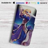 King Arthur Fate Stay Night Custom Leather Wallet iPhone 4/4S 5S/C 6/6S Plus 7  Samsung Galaxy S4 S5 S6 S7 Note 3 4 5  LG G2 G3 G4  Motorola Moto X X2 Nexus 6  Sony Z3 Z4 Mini  HTC ONE X M7 M8 M9 Case