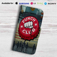 Punch Club Custom Leather Wallet iPhone 4/4S 5S/C 6/6S Plus 7| Samsung Galaxy S4 S5 S6 S7 Note 3 4 5| LG G2 G3 G4| Motorola Moto X X2 Nexus 6| Sony Z3 Z4 Mini| HTC ONE X M7 M8 M9 Case