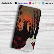 Samurai Jack Custom Leather Wallet iPhone 4/4S 5S/C 6/6S Plus 7| Samsung Galaxy S4 S5 S6 S7 Note 3 4 5| LG G2 G3 G4| Motorola Moto X X2 Nexus 6| Sony Z3 Z4 Mini| HTC ONE X M7 M8 M9 Case