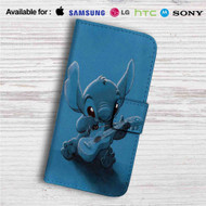 Stitch With Ukulele Custom Leather Wallet iPhone 4/4S 5S/C 6/6S Plus 7| Samsung Galaxy S4 S5 S6 S7 Note 3 4 5| LG G2 G3 G4| Motorola Moto X X2 Nexus 6| Sony Z3 Z4 Mini| HTC ONE X M7 M8 M9 Case