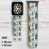 Adventure Time Custom Apple Watch Band Leather Strap Wrist Band Replacement 38mm 42mm