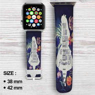 Alice in Wonderland Quotes Apple Watch Band Leather Strap Wrist Band Replacement 38mm 42mm