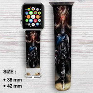Artorias of the Abyss and Black Dragon Kalameet Custom Apple Watch Band Leather Strap Wrist Band Replacement 38mm 42mm