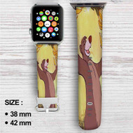 Baloo Disney The Jungle Book Custom Apple Watch Band Leather Strap Wrist Band Replacement 38mm 42mm
