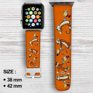 Calvin & Hobbes Custom Apple Watch Band Leather Strap Wrist Band Replacement 38mm 42mm