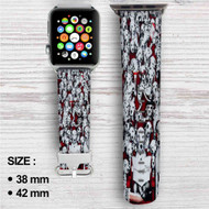 Disney 101 Dalmatians Collage Custom Apple Watch Band Leather Strap Wrist Band Replacement 38mm 42mm