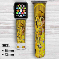 Disney Beauty And The Beast Gustav Klimt Custom Apple Watch Band Leather Strap Wrist Band Replacement 38mm 42mm