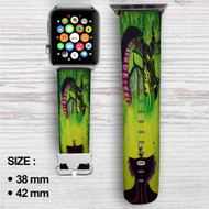 Disney Maleficient's Anger Custom Apple Watch Band Leather Strap Wrist Band Replacement 38mm 42mm