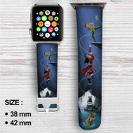 Disney Petern Pan Custom Apple Watch Band Leather Strap Wrist Band Replacement 38mm 42mm
