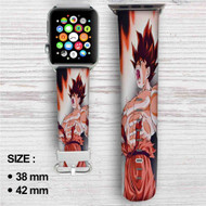 Goku Kaioken Dragon Ball Z Custom Apple Watch Band Leather Strap Wrist Band Replacement 38mm 42mm