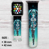 Hatsune Miku Custom Apple Watch Band Leather Strap Wrist Band Replacement 38mm 42mm