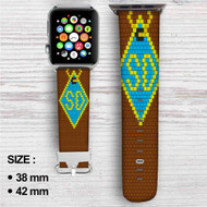Scooby Doo Dog Custom Apple Watch Band Leather Strap Wrist Band Replacement 38mm 42mm