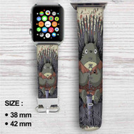 Totoro Umbrella Game of Thrones Custom Apple Watch Band Leather Strap Wrist Band Replacement 38mm 42mm