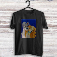 Lady and the Tramp Love Disney Custom T Shirt Tank Top Men and Woman