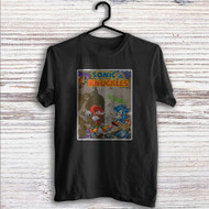 Sonic & Knuckles Custom T Shirt Tank Top Men and Woman