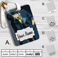 Cowboy Bebop Spike Spiegel Custom Leather Luggage Tag