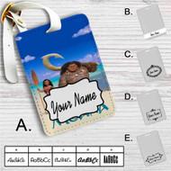 Disney Moana Custom Leather Luggage Tag