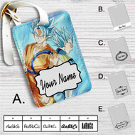 Dragon Ball Super Goku and Vegeta Super Saiyan Blue Custom Leather Luggage Tag