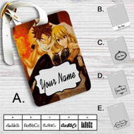 Fairy Tail Natsu Dragneel and Lucy Heartfilia Custom Leather Luggage Tag