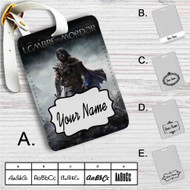 Middle Earth Shadow of Mordor Custom Leather Luggage Tag
