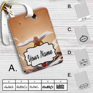 One-Punch Man Saitama Custom Leather Luggage Tag