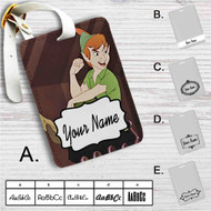 Peter Pan Disney Custom Leather Luggage Tag